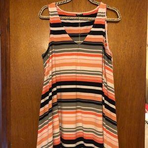 Torrid summer striped swing dress size 1